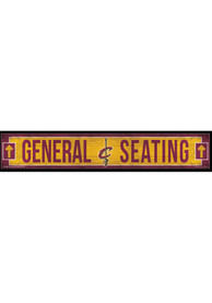 Cleveland Cavaliers General Seating 6x36 Wood Sign