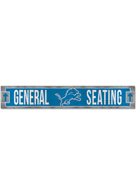 Detroit Lions General Seating 6x36 inch Wood Sign