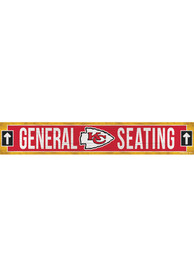 Kansas City Chiefs General Seating 6x36 inch Wood Sign