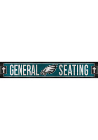 Philadelphia Eagles General Seating 6x36 inch Wood Sign