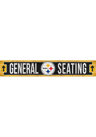 Pittsburgh Steelers General Seating 6x36 inch Wood Sign