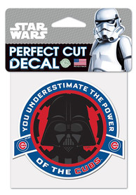 Chicago Cubs 4X4 Darth Vader Auto Decal - Blue