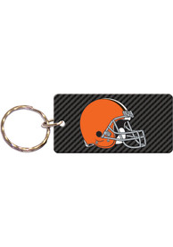 Cleveland Browns Carbon Keychain