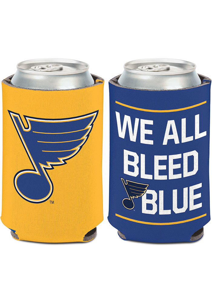 St Louis Blues We All Bleed Blue 12oz Can Coolie - Image 1