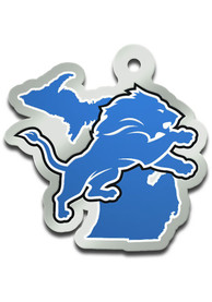 Detroit Lions State Shape Keychain