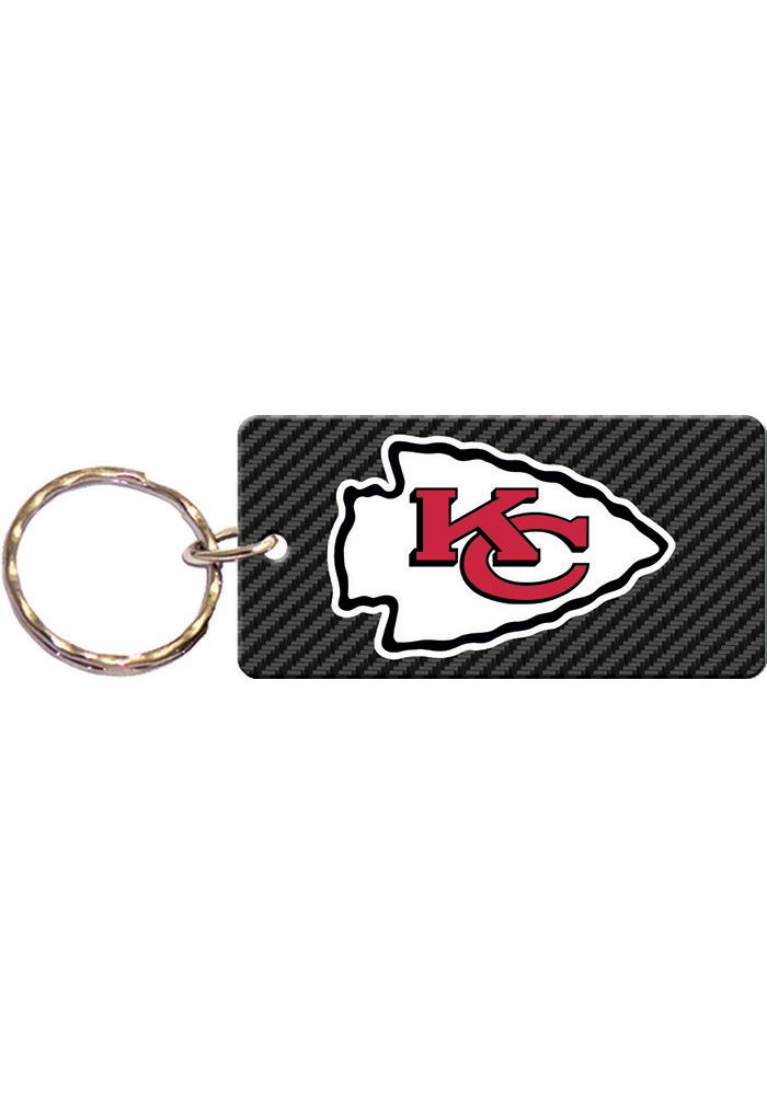 Kansas City Chiefs Carbon Keychain - Image 1