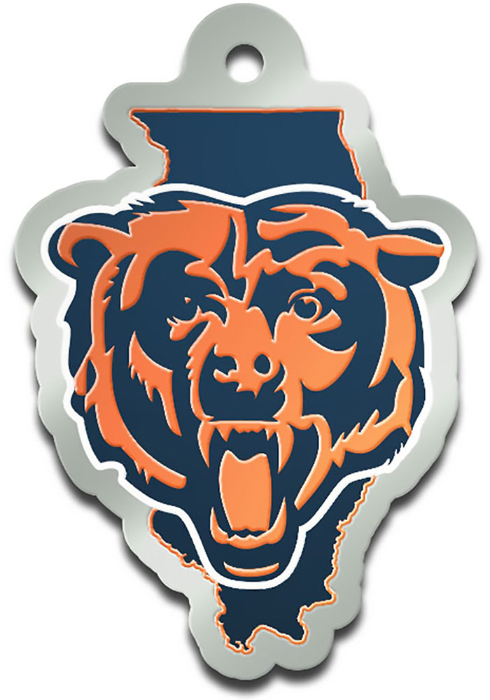 Chicago Bears State Shape Keychain - Image 1