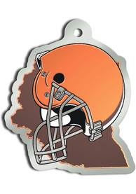 Cleveland Browns State Shape Keychain