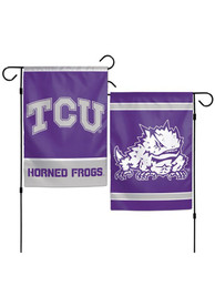 TCU Horned Frogs 12x18 inch 2-Sided Garden Flag