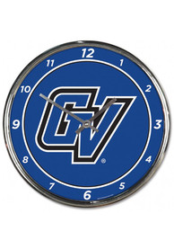 Grand Valley State Lakers Chrome Wall Clock