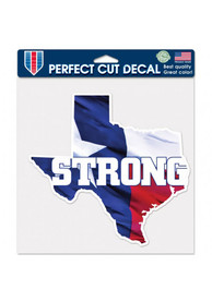 Texas 8x8 inch State Shape Auto Decal - Blue