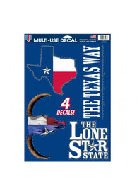 Texas 11x17 inch Auto Decal - Blue