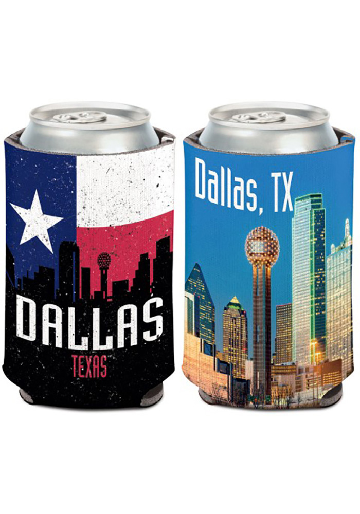 Dallas Ft Worth 12 oz Dallas Texas Koozie - Image 1