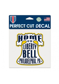 Philadelphia 6x6 inch Bell Auto Decal - White