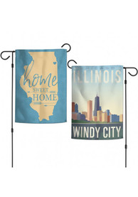 Chicago 13x18 Inch Skyline Garden Flag