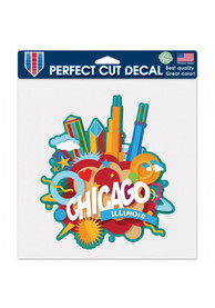 Chicago 8x8 inch Auto Decal - Red