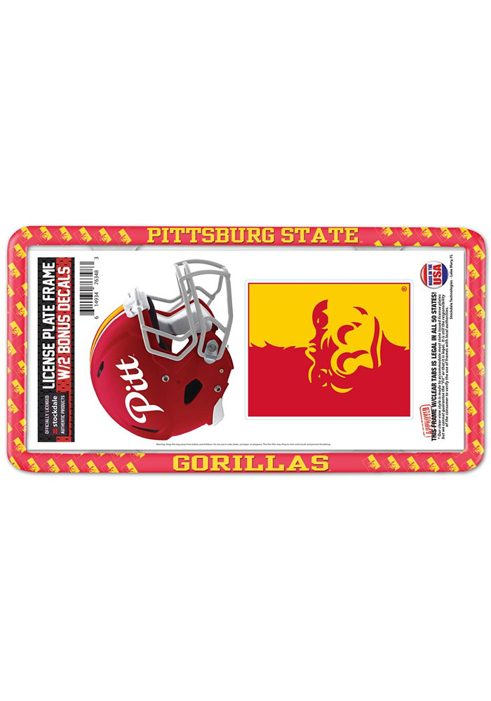 Pitt State Gorillas 2-Pack Decal Combo License Frame