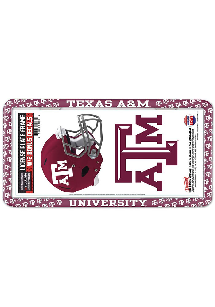 Texas A&M Aggies 2-Pack Decal Combo License Frame - Image 1