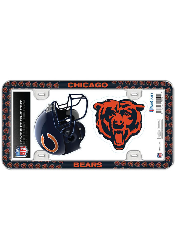 Chicago Bears 2-Pack Decal Combo License Frame - Image 1