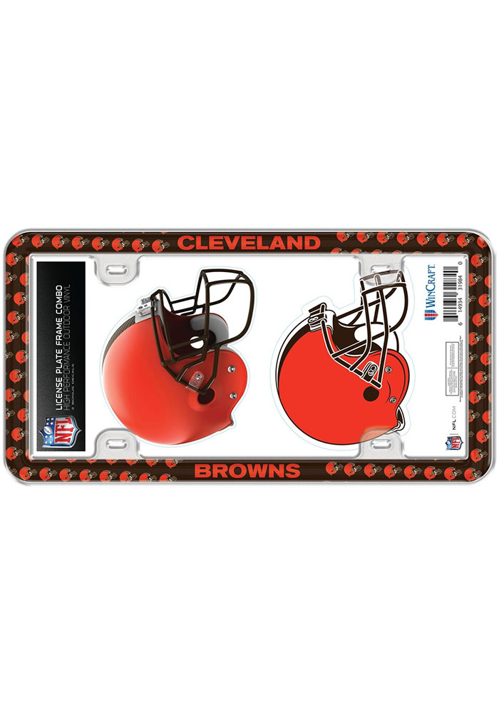 Cleveland Browns 2-Pack Decal Combo License Frame - Image 1