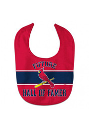 St Louis Cardinals Baby Future Hall of Famer Bib - Red