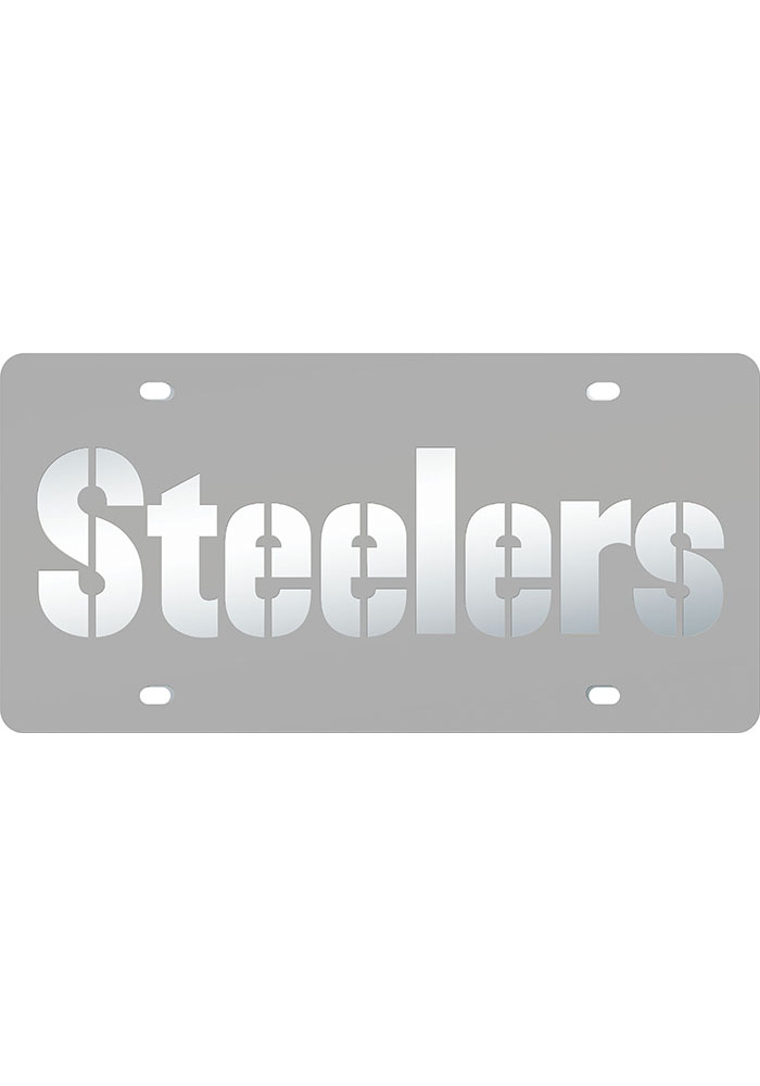 Pittsburgh Steelers Frosted Inlaid Car Accessory License Plate - Image 1