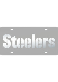 Pittsburgh Steelers Frosted Inlaid Car Accessory License Plate