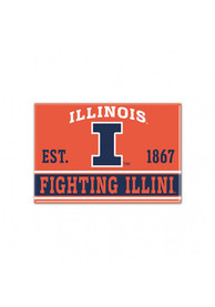 Illinois Fighting Illini 2.5 x 3.5 Metal Magnet