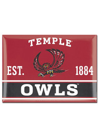 Temple Owls 2.5 x 3.5 Metal Magnet