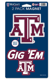 Texas A&M Aggies 5 x 9 2pk Magnet