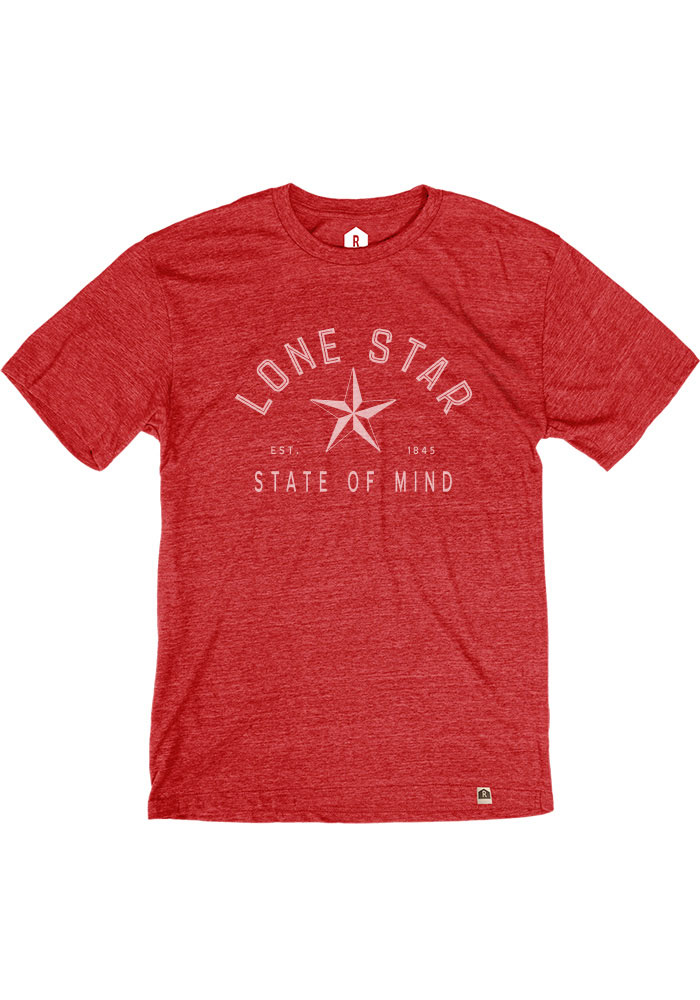 Texas Red Lonestar State of Mind Short Sleeve T Shirt - Image 1