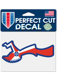 Wichita Keeper of the Plains 4x5 inch Perfect Cut Auto Decal - Red