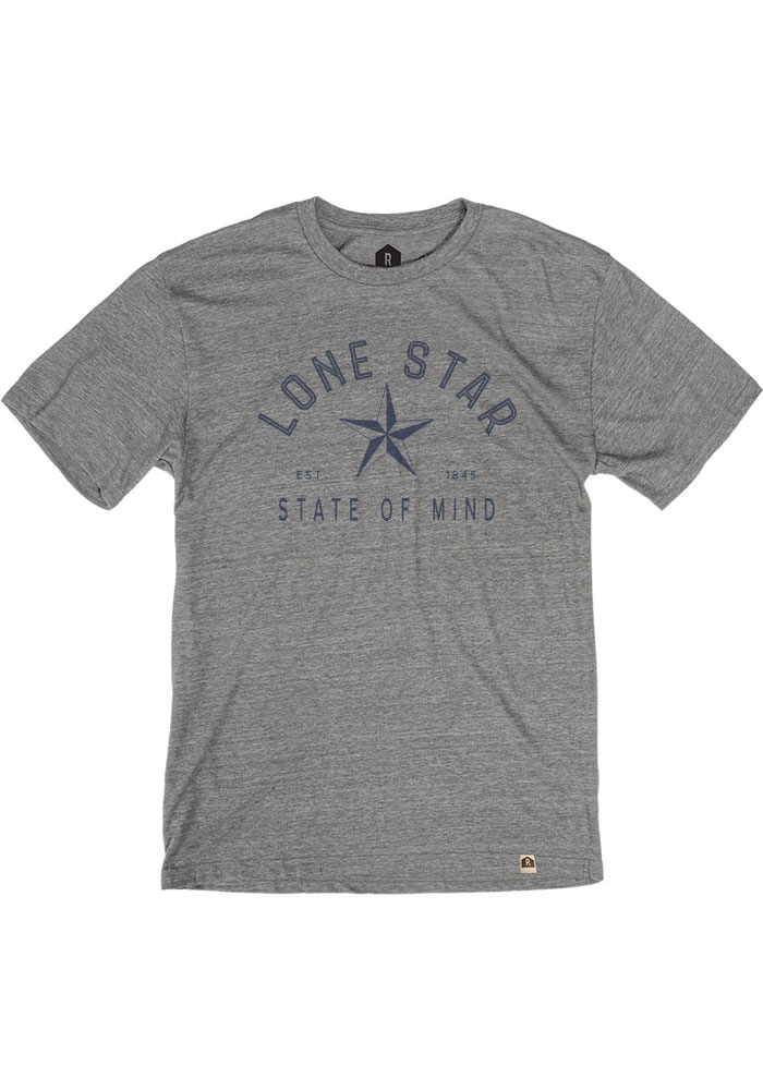 Texas Grey Lonestar State of Mind Short Sleeve T Shirt - Image 1