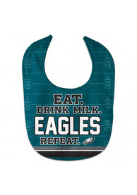 Philadelphia Eagles Baby Eat Drink Milk Bib - Midnight Green