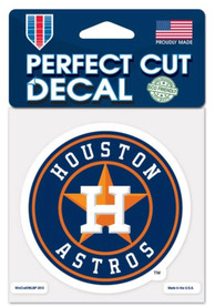 Houston Astros 4x4 inch Perfect Cut Auto Decal - Navy Blue