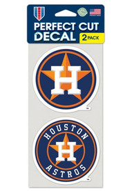 Houston Astros 4x4 inch 2 Pack Perfect Cut Auto Decal - Navy Blue