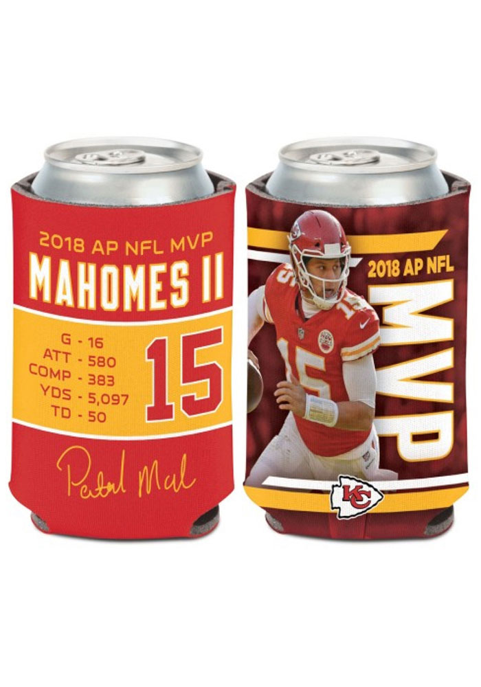 Kansas City Chiefs Patrick Mahomes NFL MVP Stats Can Cooler Koozie - Image 1
