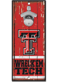 Texas Tech Red Raiders 5X11 Bottle Opener Sign