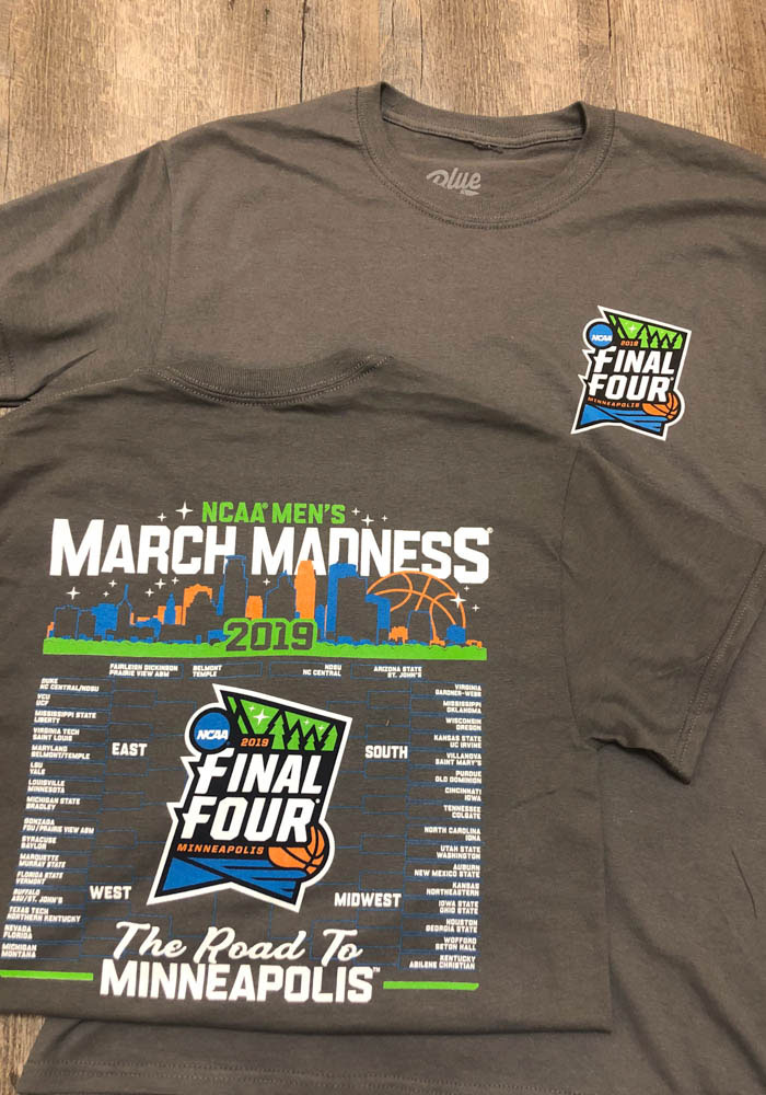 2019 March Madness Bound Road to the Final Four Charcoal Short Sleeve T Shirt - Image 3