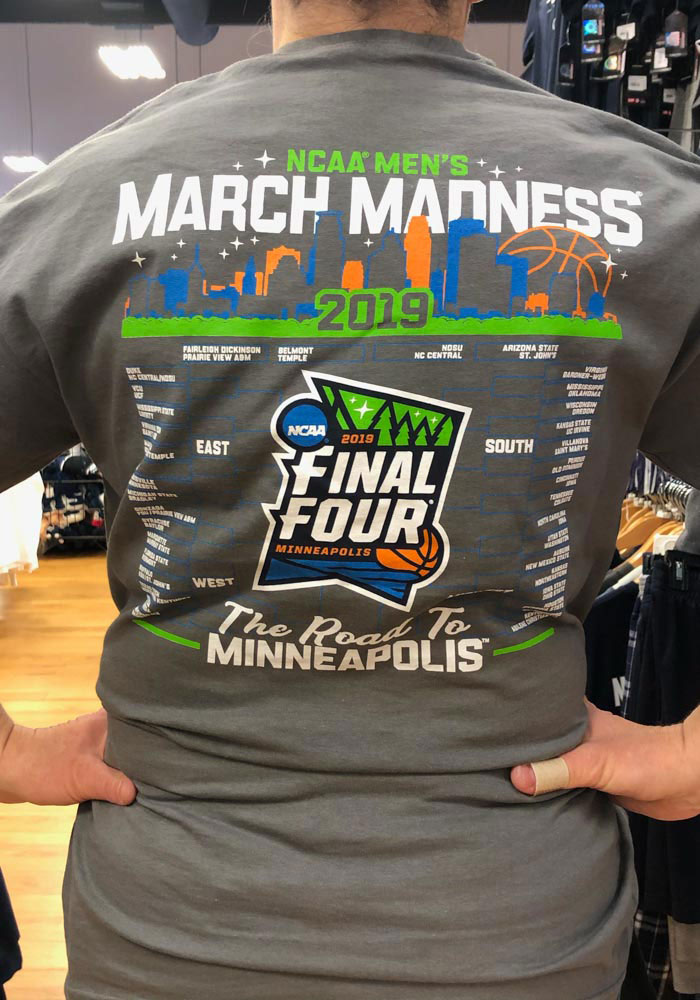 2019 March Madness Bound Road to the Final Four Charcoal Short Sleeve T Shirt - Image 4