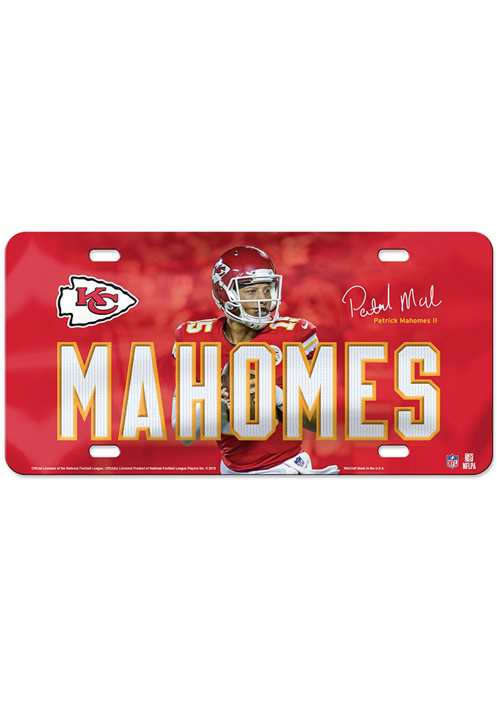Kansas City Chiefs Glossy Car Accessory License Plate - Image 1