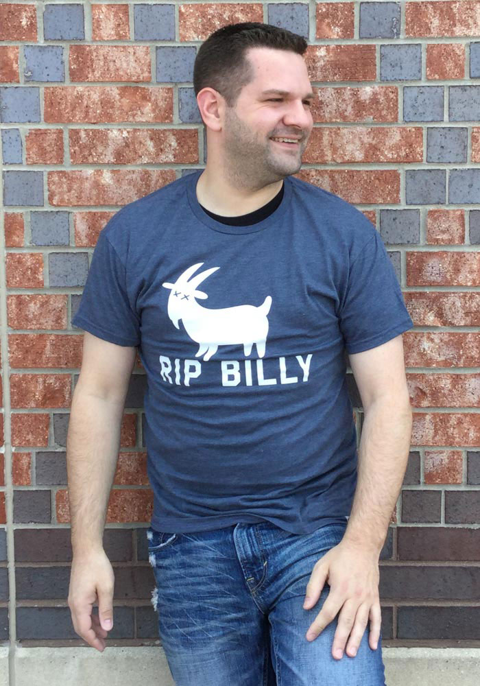 Chicago Navy RIP Billy Short Sleeve T Shirt - Image 2