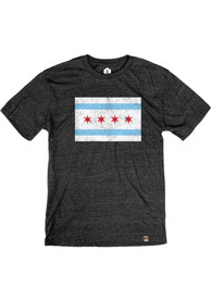 Chicago Black Chicago Flag Short Sleeve T Shirt