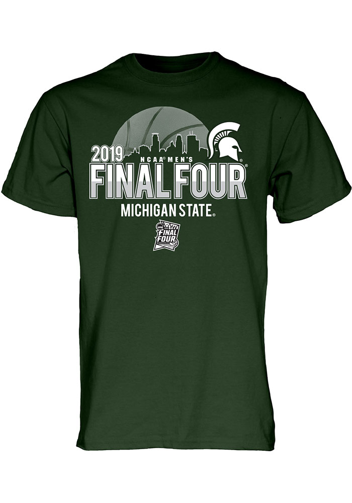 4629bce43976 Michigan State Spartans Green 2019 Final Four Short Sleeve T Shirt - Image 1
