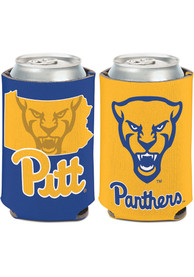Pitt Panthers 12oz Mascot State Can Cooler Coolie