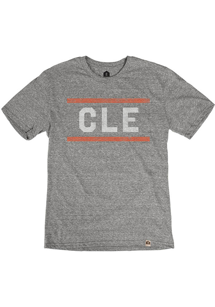 Cleveland Grey CLE Block Short Sleeve T Shirt - Image 1