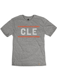 Cleveland Grey CLE Block Short Sleeve T Shirt