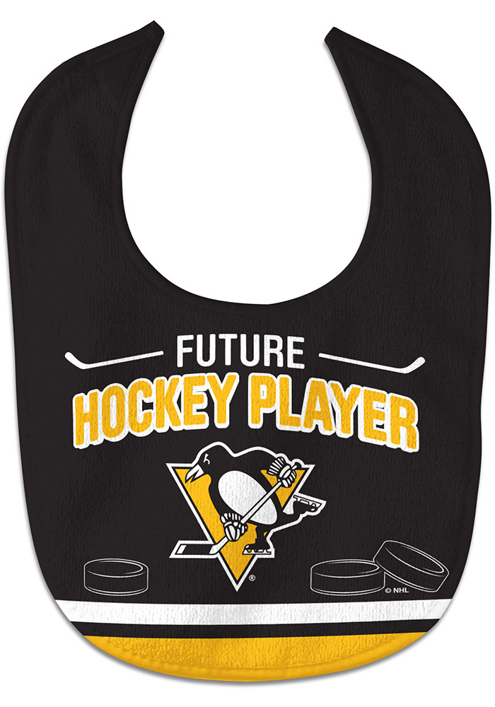 Pittsburgh Penguins Future Hockey Player Baby Bib - Image 1