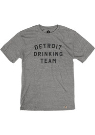 Detroit Grey Drinking Team Short Sleeve T Shirt