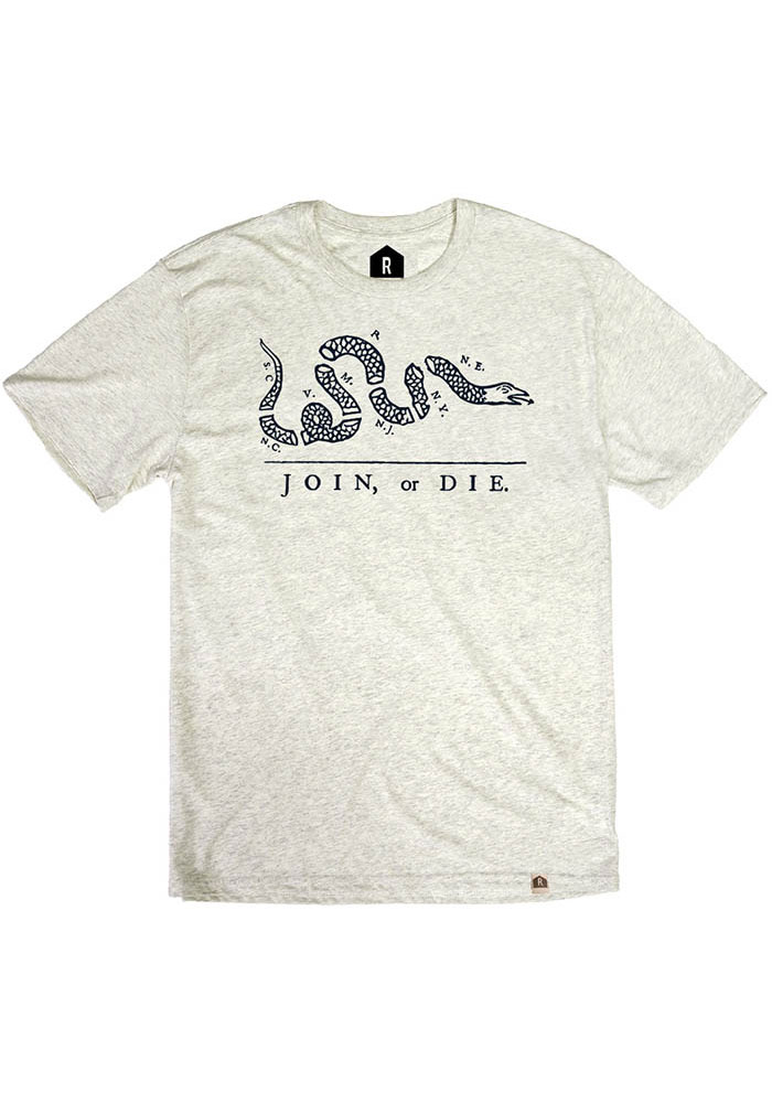 Philadelphia Oatmeal Join or Die Short Sleeve Fashion T Shirt - Image 1